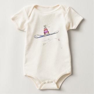 Body Para Bebé Cumpleaños feliz de la snowboard