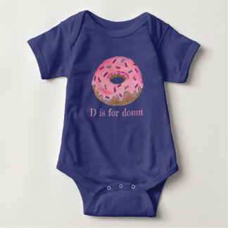 Body Para Bebé D está para el buñuelo helado rosa del buñuelo