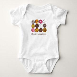 Body Para Bebé D está para la comida de desayuno del buñuelo