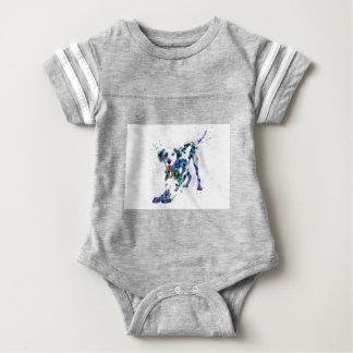 Body Para Bebé Dalmatian, perro dálmata, Dalmatian de la acuarela
