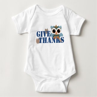 Body Para Bebé Dé el búho de las gracias