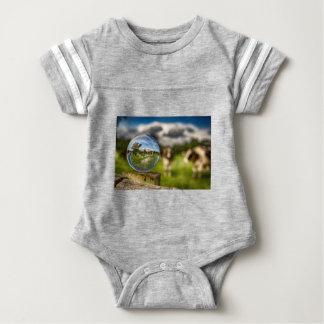 Body Para Bebé De hierba al vidrio