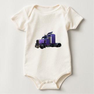 Body Para Bebé De la púrpura camión metálico semi en la opinión