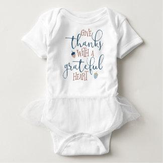 Body Para Bebé Dé las gracias con un corazón agradecido