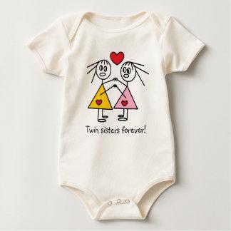 Body Para Bebé De las hermanas figuras gemelas adorables del
