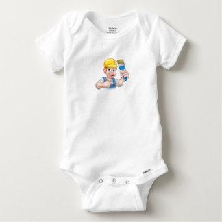 Body Para Bebé Decorador del pintor de la manitas con la brocha