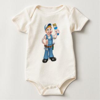 Body Para Bebé Decorador del pintor de la manitas que sostiene la