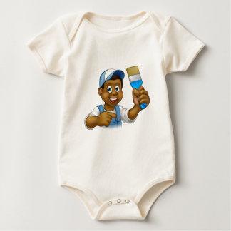Body Para Bebé Decorador negro del pintor del dibujo animado