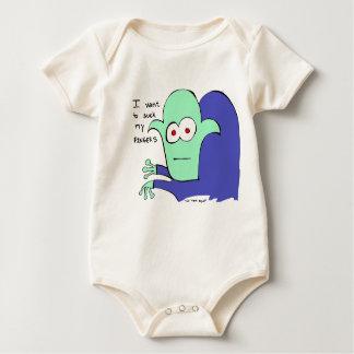Body Para Bebé Dedo que chupa al vampiro