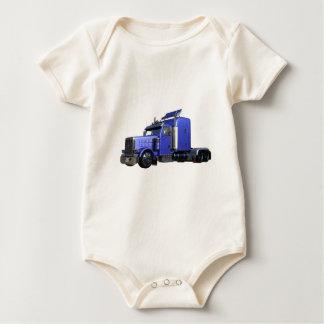 Body Para Bebé Del azul camión metálico semi en la opinión del