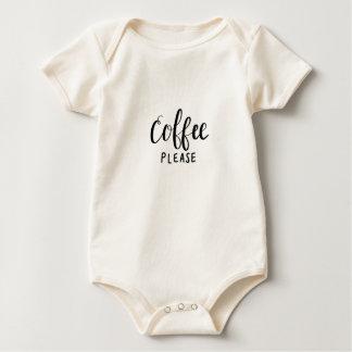 Body Para Bebé Del CAFÉ caligrafía POR FAVOR