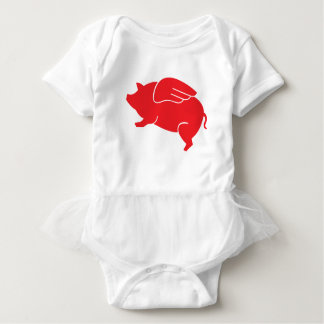 Body Para Bebé 🐷 del cerdo del vuelo