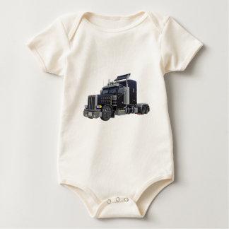 Body Para Bebé Del negro camión semi con las luces encendido en