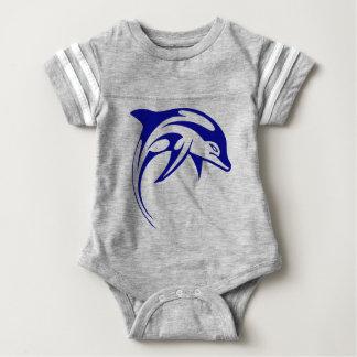 Body Para Bebé Delfín azul