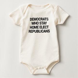 Body Para Bebé Demócratas que permanecen caseros eligen a