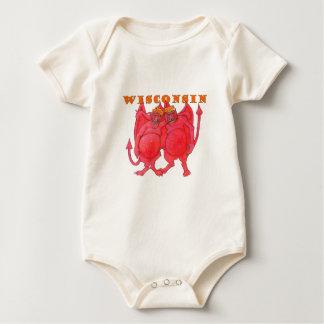 Body Para Bebé Demonios de Wisconsin Cheesehead