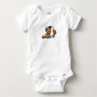 Body Para Bebé Destornillador negro de la manitas del casco