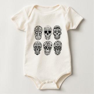 Body Para Bebé Dia de los Muertos Skulls (día de los muertos)