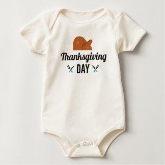 Body Para Bebé Día feliz Turquía de la acción de gracias
