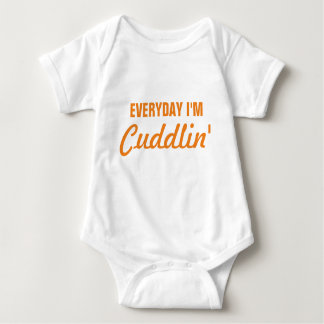 Body Para Bebé Diario soy bebé divertido de Cuddlin