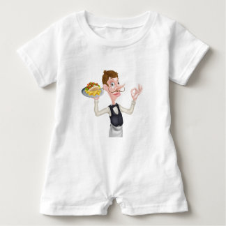 Body Para Bebé Dibujo animado camarero perfecto de Kebab y de los