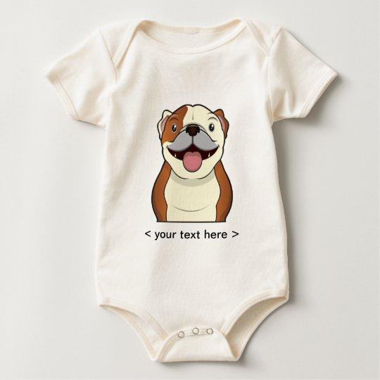 Body Para Bebé Dibujo animado del dogo personalizado