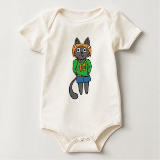 Body Para Bebé Dibujo animado lindo del gato de moda