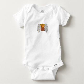 Body Para Bebé Dibujo con alas del círculo de la cabeza del león