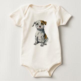 Body Para Bebé Dibujo de bosquejo del perrito del pitbull