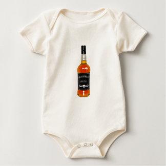 Body Para Bebé Dibujo de la botella de whisky aislado en