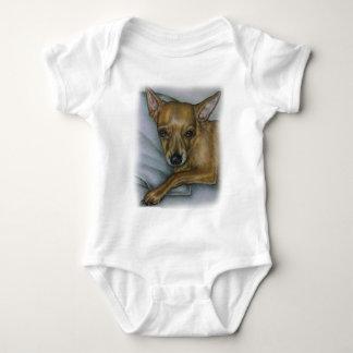 Body Para Bebé dibujo de la chihuahua del arte del animal del