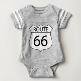 Body Para Bebé Dibujo de la muestra de la ruta 66