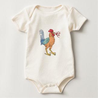 Body Para Bebé Dibujo de respiración del fuego de la badana