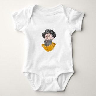 Body Para Bebé Dibujo del busto de Fernando de Magallanes