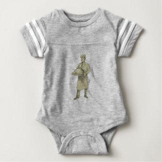Body Para Bebé Dibujo del disco de la comida de la porción del