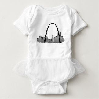 Body Para Bebé Dibujo del horizonte de St. Louis