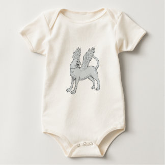 Body Para Bebé Dibujo lateral de Chamrosh