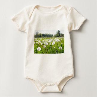 Body Para Bebé Dientes de león marchitos en prado holandés verde