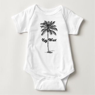 Body Para Bebé Diseño blanco y negro de Key West la Florida y de