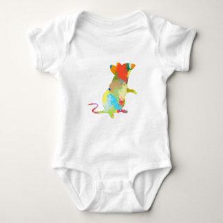 Body Para Bebé Diseño colorido del chapoteo de la forma del ratón