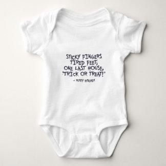 Body Para Bebé Diseño de Halloween del truco o de la invitación