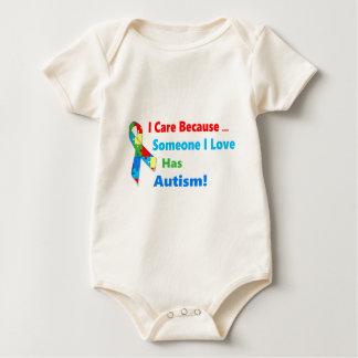 Body Para Bebé Diseño de la cinta de la conciencia del autismo