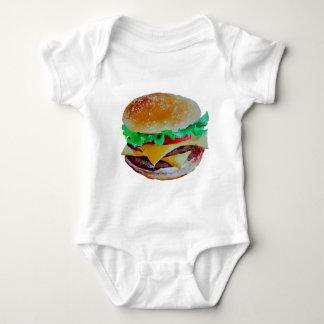 Body Para Bebé diseño de la hamburguesa, pintura original