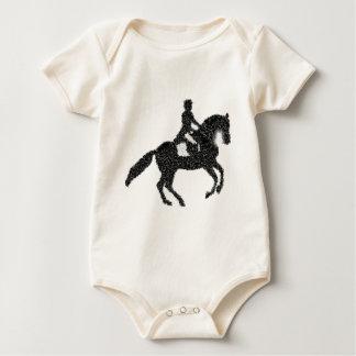 Body Para Bebé Diseño del mosaico del caballo y del jinete del