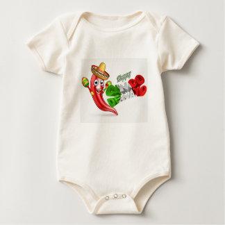 Body Para Bebé Diseño del poster de la pimienta de chiles de