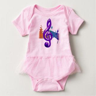 Body Para Bebé Diseño elegante púrpura del Clef agudo