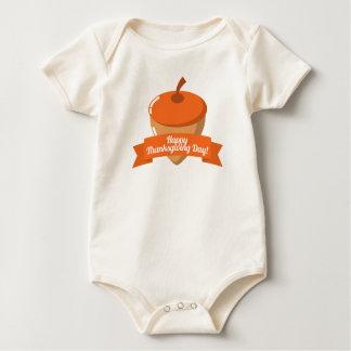 Body Para Bebé Diseño feliz de la castaña del día de la acción de