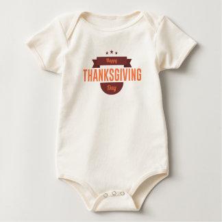Body Para Bebé Diseño feliz del día de la acción de gracias