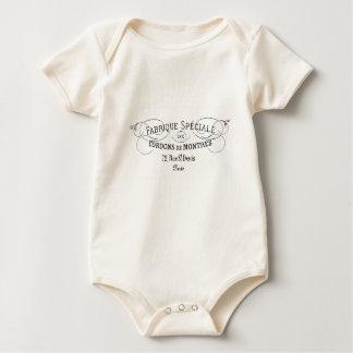 Body Para Bebé Diseño Francés-Fabrique de la tipografía del