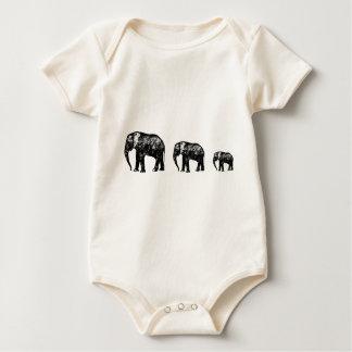 Body Para Bebé Diseño lindo de la silueta de la familia del